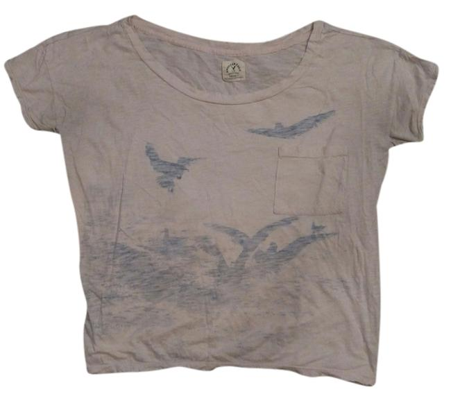 Preload https://item3.tradesy.com/images/american-eagle-outfitters-peach-and-blue-t-shirt-3286657-0-0.jpg?width=400&height=650
