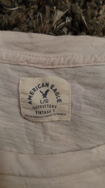 American Eagle Outfitters T Shirt Peach and blue