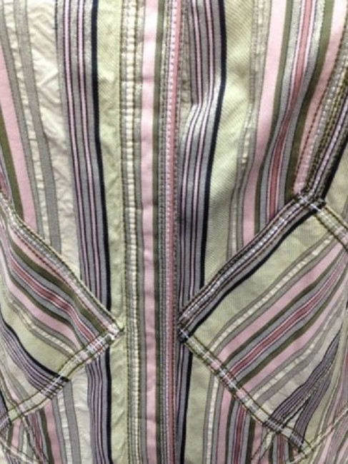 Other Multicolored Print Cotton Blouse 42 8 Button Down Shirt Image 3