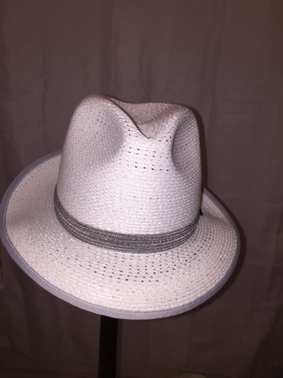 Stetson 819) NWT auth STETSON glazed PAPER Harmony HAT dsign sample SIZE S retail: $250