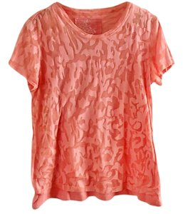 Oleg Cassini Sport Floral Top peach