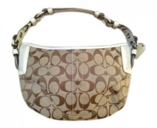 Preload https://item1.tradesy.com/images/coach-small-used-once-brown-jacquard-leather-hobo-bag-32870-0-0.jpg?width=440&height=440