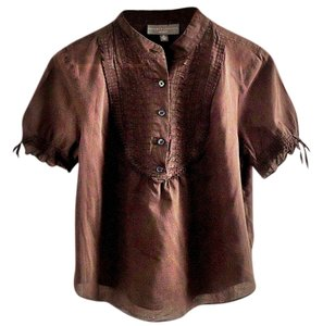 Proenza Schouler for Target Cotton Embroidered Top chocolate