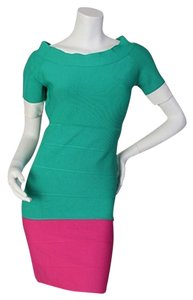 BCBGMAXAZRIA short dress Green/Pink on Tradesy