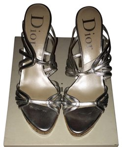 Dior Silver Wedges