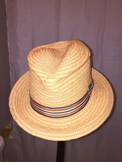 Stetson 811) NWT auth STETSON woven grass HAT design sample SIZE M retail: $229