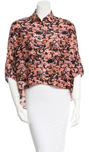 SUNO Floral Flowy Asymmetrical Button Down Shirt Multicolor