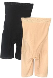 BNWOT ~ Tummy And Thigh Shaper, 2 Pak, Black And Beige, Sz 2X