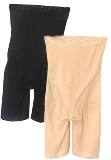 Other BNWOT ~ Tummy And Thigh Shaper, 2 Pak, Black And Beige, Sz 2X