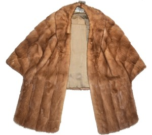 Mink fur Stole Cape