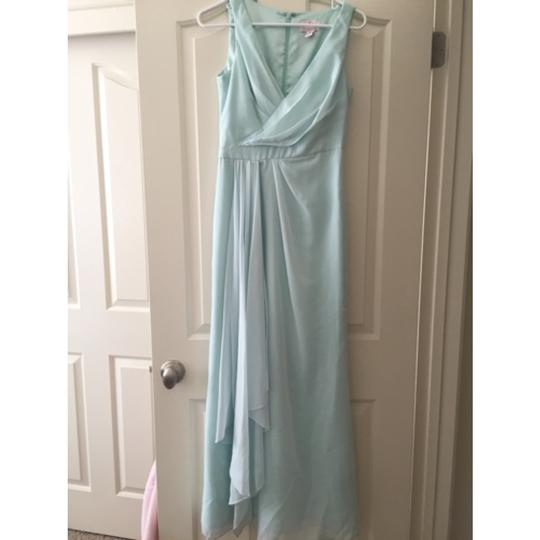 Monique Lhuillier Mint Shell Polyester/Chiffon Bridesmaid/Mob Dress Size 2 (XS)