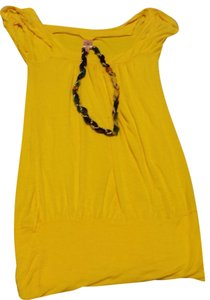 Rue 21 Top Blouse with Necklace / Yellow