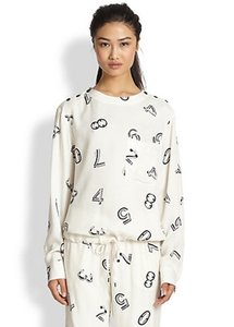 See by Chloé Chloe Number Print Drawstring Sweatshirt Number Printed Number Top ivory