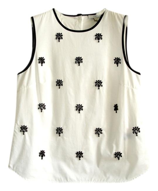 Preload https://img-static.tradesy.com/item/3288928/jcrew-white-black-beaded-sleeveless-blouse-size-4-s-0-0-650-650.jpg