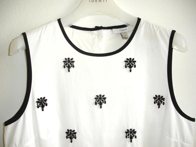 J.Crew Beaded Jewel Embellished Sleeveless Tank Black And Sparkle Crew Neck Embellished Jeweled Sparkly Tank Top white Image 1