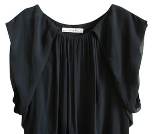 Zara short dress black Chiffon Pleated Short Mini Chiffon Chiffon Chiffon Chiffon Pleated Pleated on Tradesy