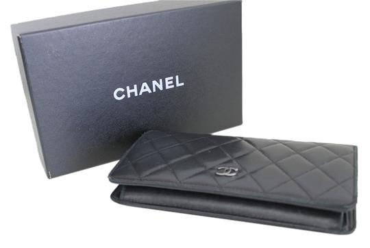 Chanel Chanel Quilted Matelasse ZIP Black Wallet