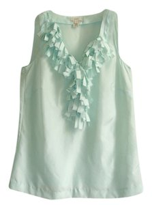 J.Crew Ruffle Sleeveless Top mint
