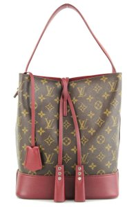 Louis Vuitton Limited Edition Rare Satchel in Monogram and Burgundy