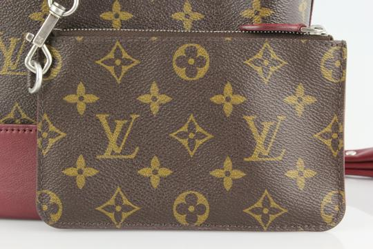 Louis Vuitton Limited Rare Satchel in Monogram and Burgundy