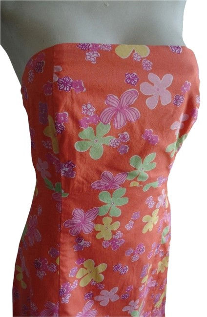 Lilly Pulitzer short dress Sabrina boned tie-back sun Strapless Bandeau Backless on Tradesy
