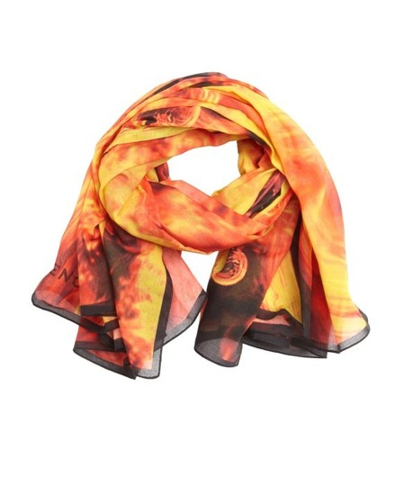 Givenchy Givenchy Flame-Fire Motif Scarf-Wrap-Shawl 2014 Collection!