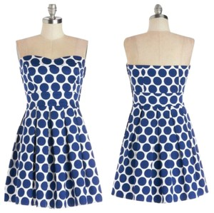 Modcloth short dress Navy White on Tradesy