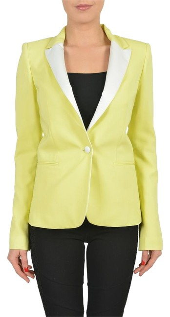 Preload https://item3.tradesy.com/images/just-cavalli-bright-yellow-v-wh-1321-blazer-size-6-s-3289852-0-1.jpg?width=400&height=650