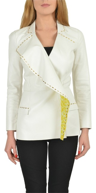 Preload https://img-static.tradesy.com/item/3289873/just-cavalli-white-leather-double-breasted-women-s-basic-size-4-s-0-0-650-650.jpg