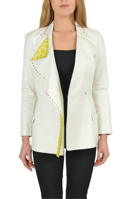 Just Cavalli White Leather Jacket Image 1
