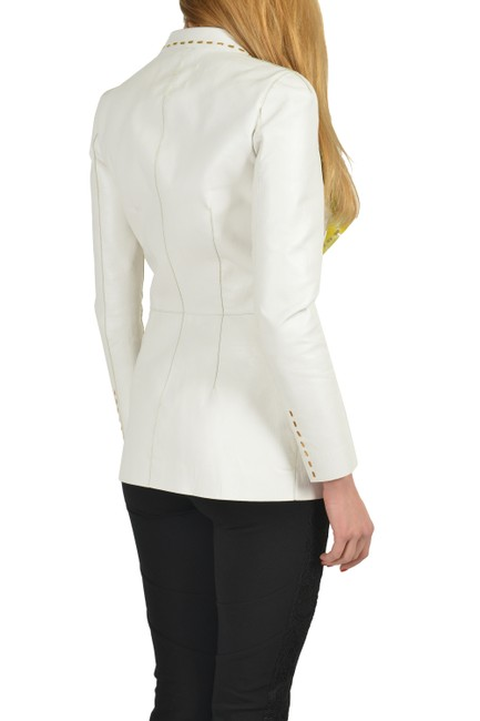 Just Cavalli White Leather Jacket Image 2