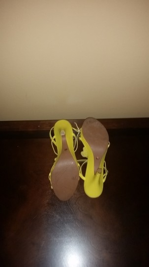 DKNY Yellow Sandals Image 1