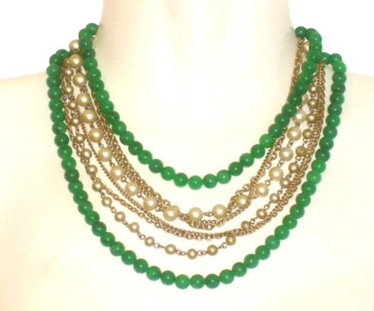 Unknown Faux Green and Gray Pearls and Chains