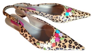 Giga leopard and floral Pumps
