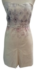 French Connection short dress White and Lavender Strapless Sexy Spring Summer on Tradesy