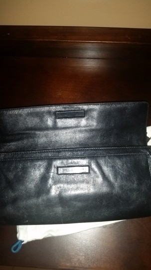 Cole Haan Black Silver Hardware Clutch