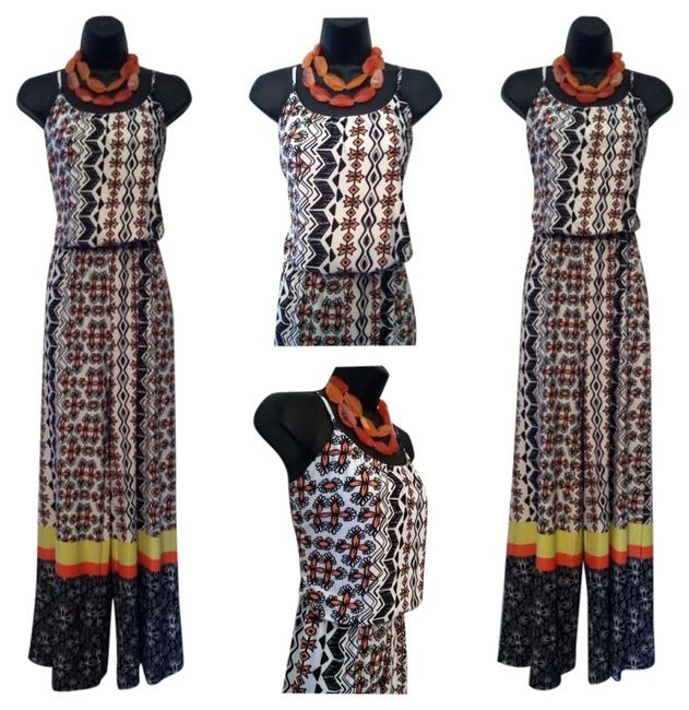Preload https://item5.tradesy.com/images/black-white-coral-and-yellow-flower-print-romperjumpsuit-size-8-m-3290899-0-0.jpg?width=400&height=650
