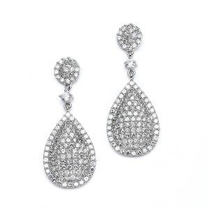 Mariell Luxurious Pave Cz Wedding Earrings 4197e