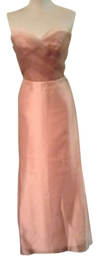Jim Hjelm Camel - Extra Length Added Organza Traditional Bridesmaid/Mob Dress Size 6 (S)