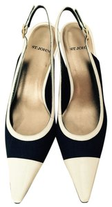St. John Navy And White Pumps