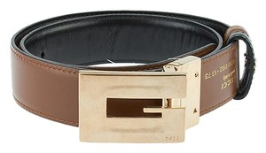 Gucci Gucci Brown Leather Belt, Size 26 (41215)