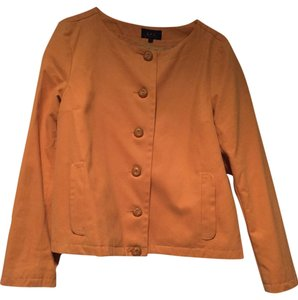 A.P.C. Combed Cotton Classic Lined Boat Neck A-line Ochre / Yellow Jacket
