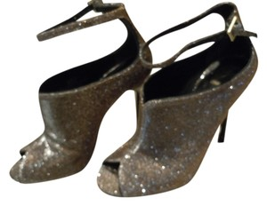 Brian Atwood Silver Boots
