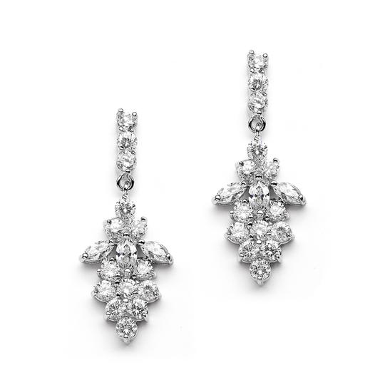 Mariell Silver Marquis Cz Cluster Or Bridesmaids 4239e Earrings
