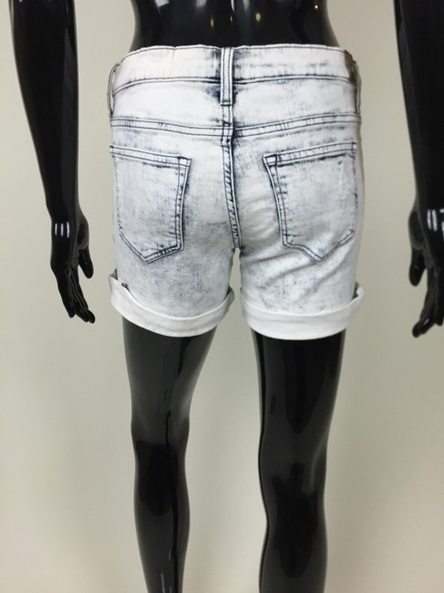 Other Denim Cuffed Destroyed Ripped Cut Out Shorts