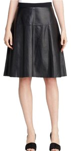 Vince Leather Professional Lamb Agneau Unlined Soft Lightweight Sexy Dressy Fashion Style Designer Quality Size4 4 Aline Skirt Black