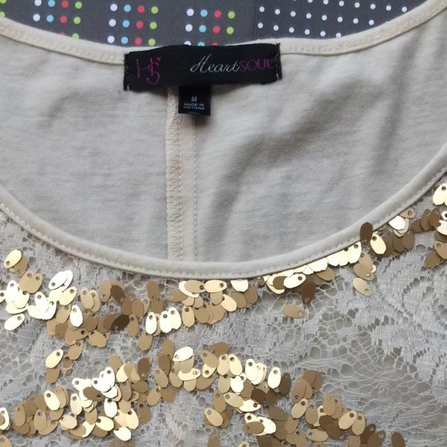 HeartSoul T Shirt Gold and Beige