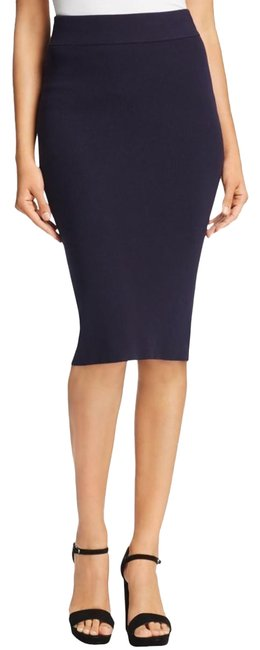 DKNY Patchwork Skirt Navy Blue Image 0