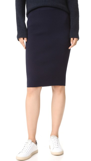 DKNY Patchwork Skirt Navy Blue Image 3