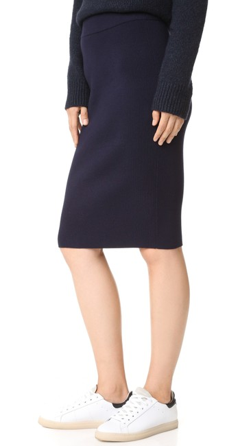 DKNY Patchwork Skirt Navy Blue Image 4